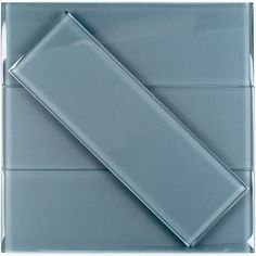 "#LGLimitlessDesign #Contest  These subway tiles would look great as the backsplash. I'd use the custom sea-life tiles behind the range. Loft Blue Gray Polished 4"" X 12"" Glass Tiles at TileBar.com"