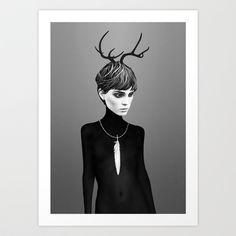 The Cold  Art Print by Ruben Ireland - $18.00