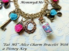 Alice In Wonderland Eat Me Charm Bracelet by Mommyandmeboutiquega, $25.00