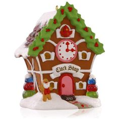 Noelville Gingerbread Clock Shop Ornament