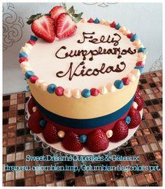 Cake, edible printing, colors of Columbian flag