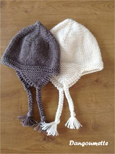Beanie for children and adults - Knitting 01 Baby Hats Knitting, Baby Knitting Patterns, Knitted Hats, Crochet Hats, Bonnet Crochet, Moss Stitch, Seed Stitch, Tricot Baby, Crochet Christmas Hats