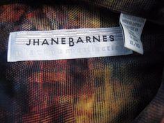 Vintage 80s 90s JHANE BARNES size XL Mens Shirt Japanese Fabric NWOT Deadstock #JhaneBarnes #ButtonFront