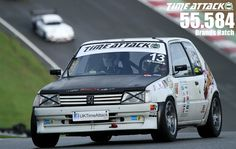Darren Spooner of Spooks Motorsport putting his 329bhp 205 GTi through it's paces at Brands Hatch.  This runs a 2.0 GTi-6 engine with a recenlty added turbocharger unit.