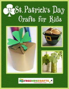 Patricks Day is the luckiest day of the year. Get into your Irish-spirit with these awesome St. From leprechauns to gold coins to rainbows, you will find everything you need to decorate and celebrate St. Patricks Day in style. St Patricks Day Crafts For Kids, St Patrick's Day Crafts, Book Crafts, Crafts To Sell, Holiday Crafts, Diy Crafts, Craft Books, St Patricks Day Quotes, Happy St Patricks Day