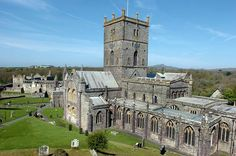 Brush up on your history ahead of St David's Day as Amanda Canby-Lewis, head custodian of St David's Bishop's Palace in Pembrokeshire, unravels the mystery of a giant of a man. and reveals which monuments you can go to for free on March 1 St Davids Cathedral, Saint David's Day, England And Scotland, Oh The Places You'll Go, Great Britain, Wales, Countryside, Pond, Attraction