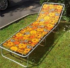 VINTAGE RETRO - SUN LOUNGER - 1960s - GOOD CONDITION!!