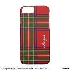 Monogram Royal Clan Stewart Tartan Phone Case