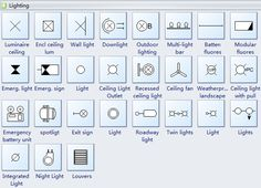An easy-to-use home wiring plan software with pre-made symbols and templates. It helps make accurate and high-quality wiring plans, home wiring plans, and house wiring plans. Electrical Plan Symbols, Electrical Layout, Electrical Diagram, Ceiling Plan, Ceiling Lights, Blueprint Symbols, Floor Plan Symbols, Home Design Software Free, Interior Design Tools