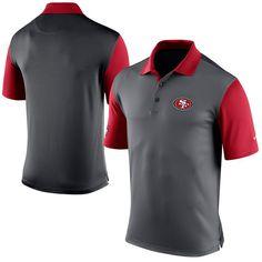 San Francisco 49ers Nike Preseason Performance Polo - Charcoal