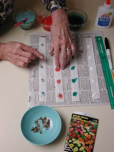 Make Seed Tapes: A Better Way to Sow Seeds - plain white paper towels and white glue