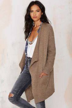 $68 Warmin' Up Drape Cardigan - Cold Weather Gear | All | Cardigan | Clothes | Tops