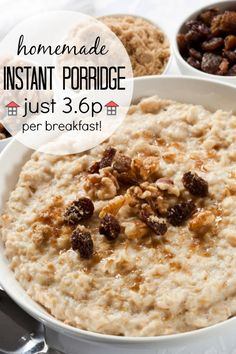 Homemade Instant Porridge - So easy to whip up and a fraction of the cost of the shop bought version. So frugal, and so much less sugar, to boot!