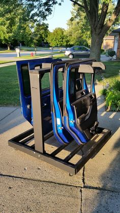 Storing doors (and freedom hard top) - Jeep Wrangler Forum Jeep Wrangler Tires, Jeep Wrangler Forum, 2016 Jeep Wrangler, Jeep Jk, Forum Jeep, Jeep Garage, Jeep Gear, Jeep Rubicon, Jeep Wrangler Accessories