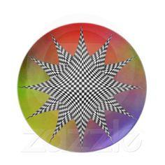 Modern checkered plasma plate