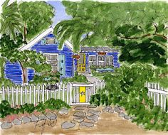 Fish Camp Cottage by Fifi Flowers
