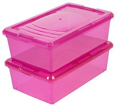 IRIS 6 Quart Modular Storage Box 10 Pack Pink >>> You can find out more details at the link of the image.