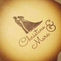 Wedding Logo ~ Hochzeitslogo ~ Bride&Groom ~ Logodesign  #hochzeitslogo #hochzeit #wedding #weddinglogo