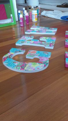 DIY Lilly Pulitzer letters! so fun to make