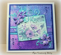 Water droplets by Designs by Ryn, Postcard by Crafty Individuals, Flowers by Crealies