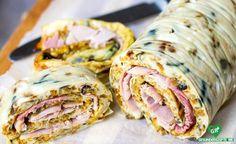 Omelett-Wrap Mit Schinken Rezept, low carb Diät rezept