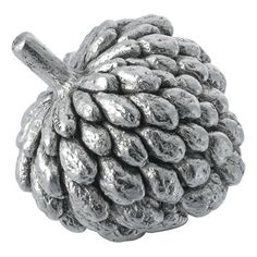 Comyns Silver Custard Apple Ornament ($386) ❤ liked on Polyvore featuring home, home decor, metallic, silver home accessories, silver home decor and apple home decor