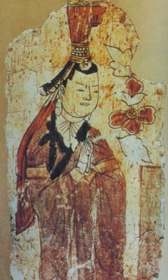 Uighur woman from Bezeklik murals - Professor James A. Millward described the original Uyghurs as physically Mongoloid, giving as an example the images in Bezeklik at temple 9 of the Uyghur patrons, until they began to mix with the Tarim Basin's original Indo-European Tocharian inhabitants.[8] Buddhist Uyghurs created the Bezeklik murals.[9] However, Peter B. Golden writes that the Uyghurs not only adopted the writing system and religious faiths of the Indo-European Sogdians, such as…