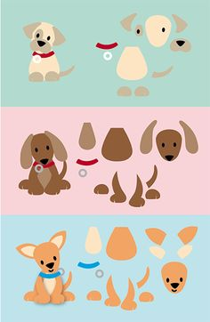 Casas de cachorro Dogs Diy Projects Puppies Ideas Body Jewelry Enhancing The Beauty Of Your Body Felt Animal Patterns, Stuffed Animal Patterns, Paper Punch Art, Paper Art, Puppy Crafts, Marianne Design Cards, Dog Quilts, Felt Dogs, Dog Cards