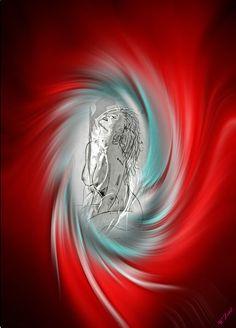 'Akt Abstrakt 20' von Walter Zettl bei artflakes.com als Poster oder Kunstdruck $22.17