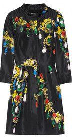Oscar de la RentaPrinted silk-faille dress  i need to own this asap