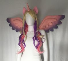 Princess Cadence Cosplay, My Little Pony Cadence Costume Wings and Ears with Wig