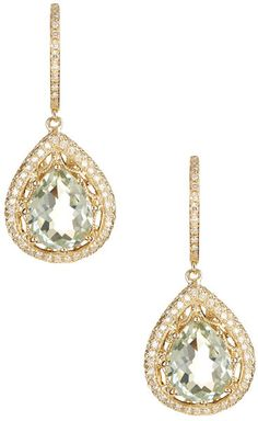 Effy 14K Yellow Gold Green Amethyst