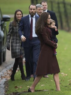 BUCKLEBURY, BERKSHIRE - DECEMBER 25:  Catherine, Duchess of Cambridge , Princess Charlotte of Cambridge, Pippa Middleton and James Middleton attend Church on Christmas Day on December 25, 2016 in Bucklebury, Berkshire.  (Photo by Samir Hussein/Samir Hussein/WireImage) via @AOL_Lifestyle Read more: http://www.aol.com/article/lifestyle/2016/12/25/kate-middleton-prince-william-and-family-attend-christmas-servi/21641812/?a_dgi=aolshare_pinterest#fullscreen