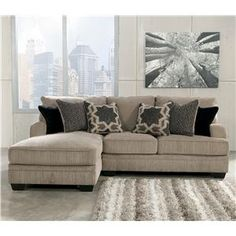 Katisha - Platinum 2-piece Sectional With Left Chaise By Signature Design By…