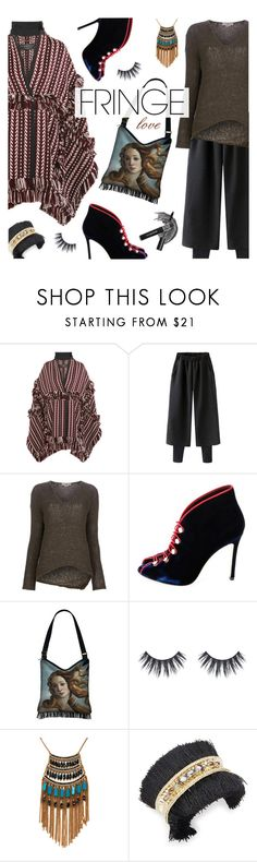 """""""Fringe Love"""" by watereverysunday ❤ liked on Polyvore featuring Burberry, Helmut Lang, Leslie Danzis, Jenny Packham and fringe"""