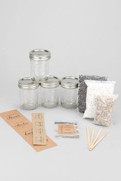 MakersKit DIY Mason Jar Herb Garden Kit - Urban Outfitters