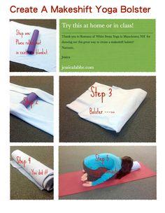 makeshift yoga bolster - Yoga Bolster