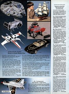 Star Wars Model kits 1980-xx-xx Sears Christmas Catalog P554