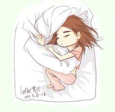 Taeng jetlag sleeping beauty fanart by lethe #Taeyeon #jetlag