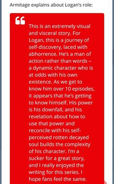 #RichardArmitage about Logan's role  #WolverinePodcast #Marvel #Logan  twitter.com/TheComicon/sta…