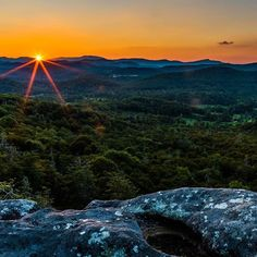 Here's one more summer sunset over the #BlueRidgeParkway in #NorthCarolina. Soon, these green valleys and rolling mountains will explode in the bright colors of fall. Take advantage of this wonderful time of year to explore the many hiking trails and incredible views @blueridgenps has to offer. #Sunset from the Flat Rock Trail (near Mile Post 308) courtesy of Jim Ruff. #usinterior #findyourpark