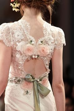 Claire Pettibone 'BEAUTY' wedding gown
