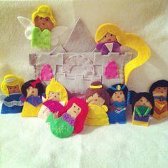 Disney Princesses by CourtneyFeltCreation on Etsy, $46.00