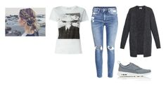 """""""Untitled #5549"""" by dominika-h ❤ liked on Polyvore featuring H&M, Yves Saint Laurent, NIKE and Acne Studios"""