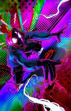 Miles Morales - Ultimate Spider-Man, Into the Spider-Verse Marvel Comic Universe, Marvel Comics Art, Comics Universe, Marvel Heroes, Marvel Avengers, Spiderman Spider, Amazing Spiderman, Black Spiderman, Spiderman Wallpaper 4k