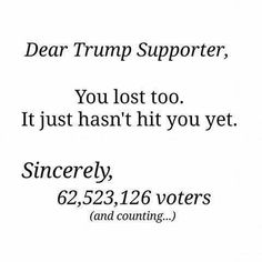 Dear Trump supporter