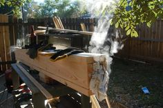 My wood steam box to bend the wood,