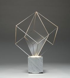 Claudio Salocchi, Tulpa Lamp for Lumenform, - DECO Led Light Design, Lighting Design, Luminaire Design, Lamp Design, Light Art, Lamp Light, Led Light Installation, Traditional Lamps, Stained Glass