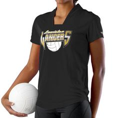 Alleson Girls Drop Neck Cap Sleeve Volleyball Jersey at Volleyball.Com