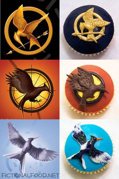 Hunger Games Trilogy Cupcakes! <3